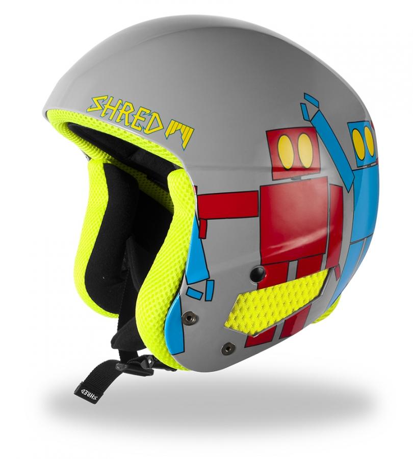 Kids 39 helmet shred brain bucket robot boogie for Housse snowboard
