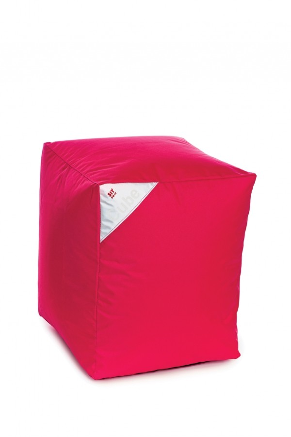Sedežna vreča Sit on it - kocka - roza