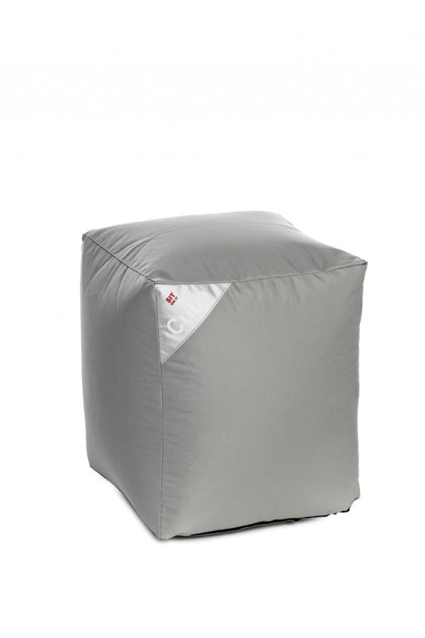 Sedežna vreča Sit on it - kocka - siva