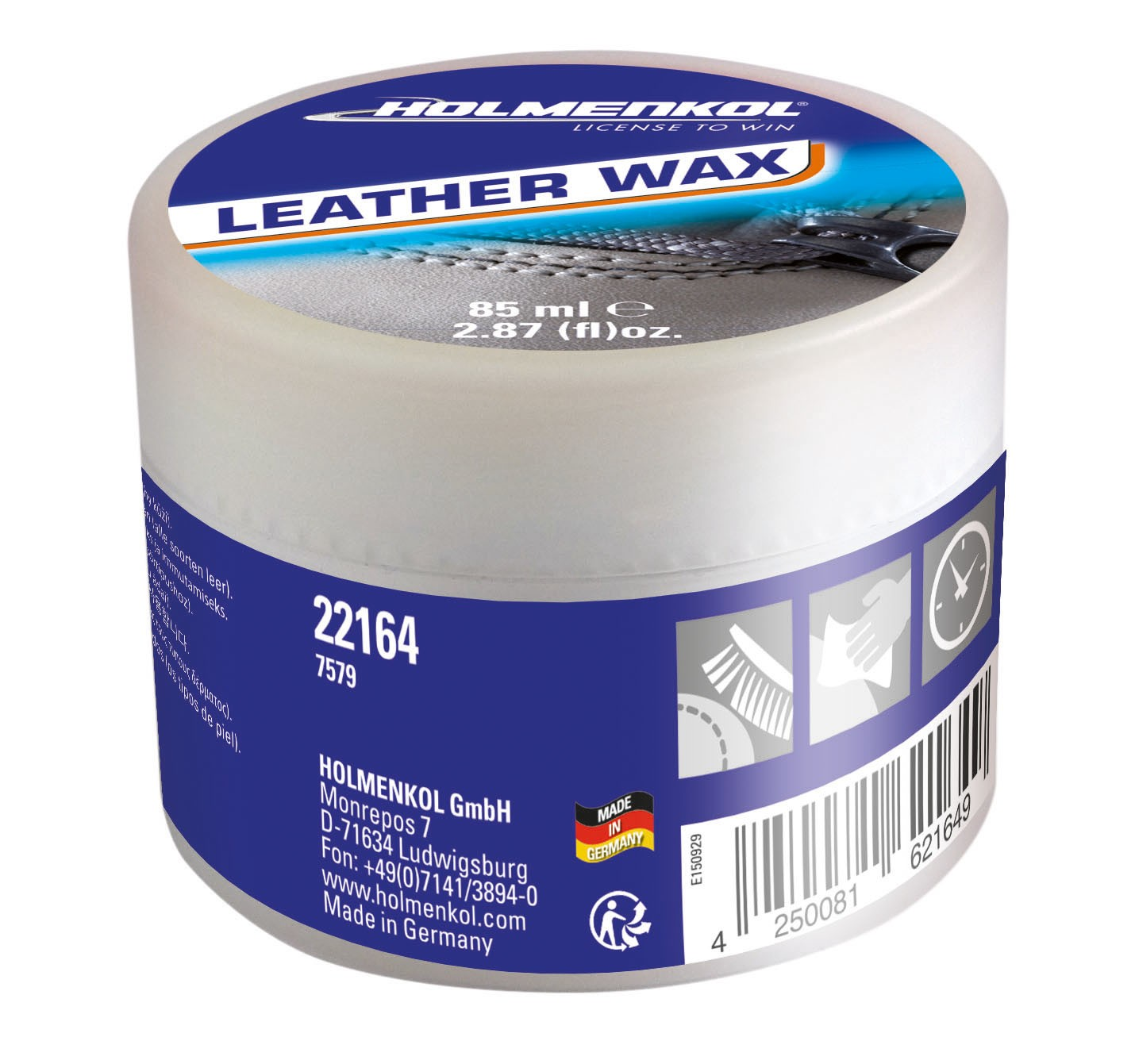 Holmenkol Natural Leather Wax, 85 ml