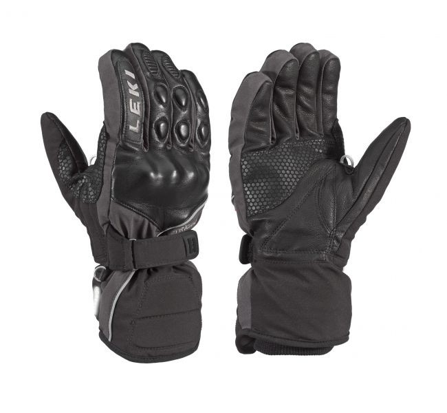 Leki smučarske rokavice Equipe - črne/sive (7)
