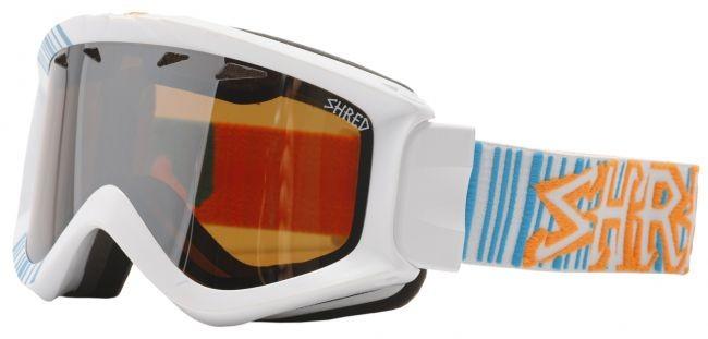 Shred smučarska očala YONI - Barcode (bela/modra)