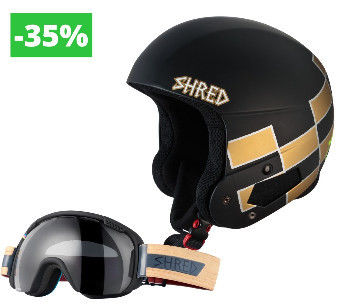Shred komplet Brain Bucket Raptor (Lara Gut) + Smartefy Shrastawood