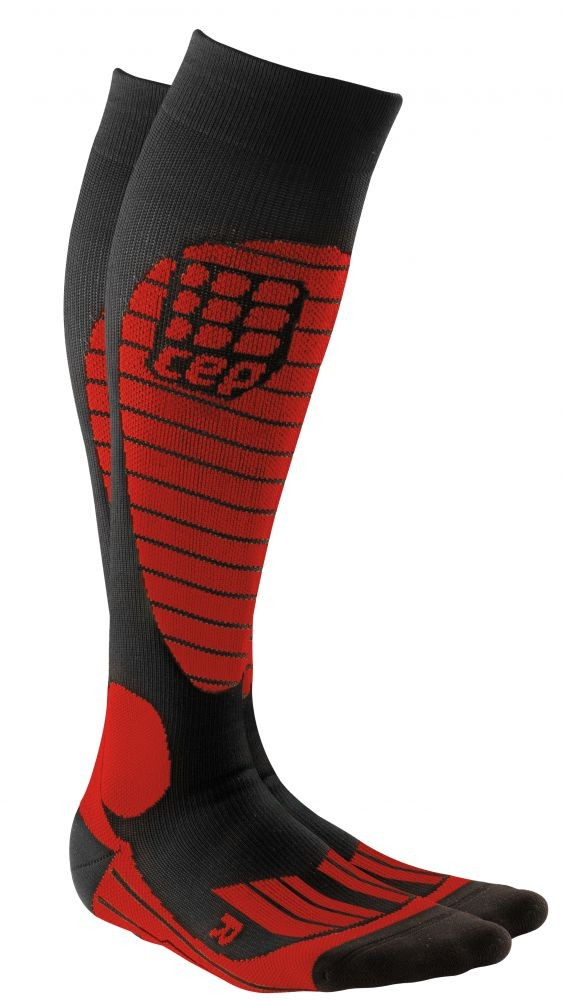 cep skiing socks racing red