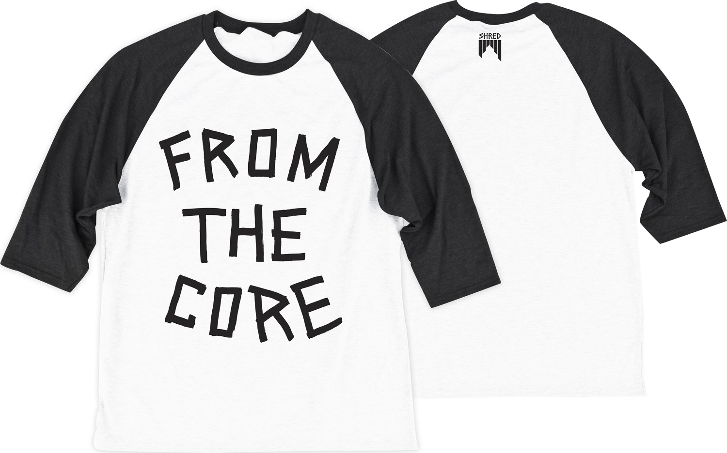Shred 3/4 RAGLAN TEE FTC
