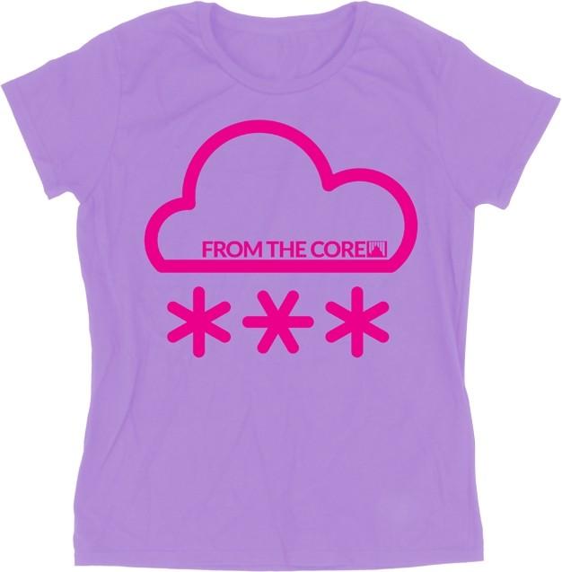 Shred ženska bombažna kratka majica Air Purple