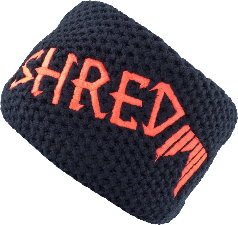 shred heavy knitted headband navy rust