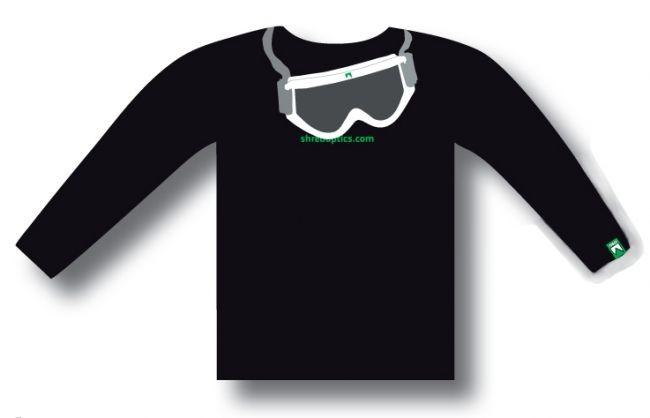 Shred majica z dolgimi rokavi GOGGLE - črna
