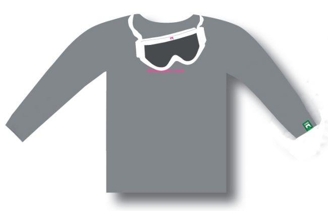 Shred majica z dolgimi rokavi GOGGLE - siva