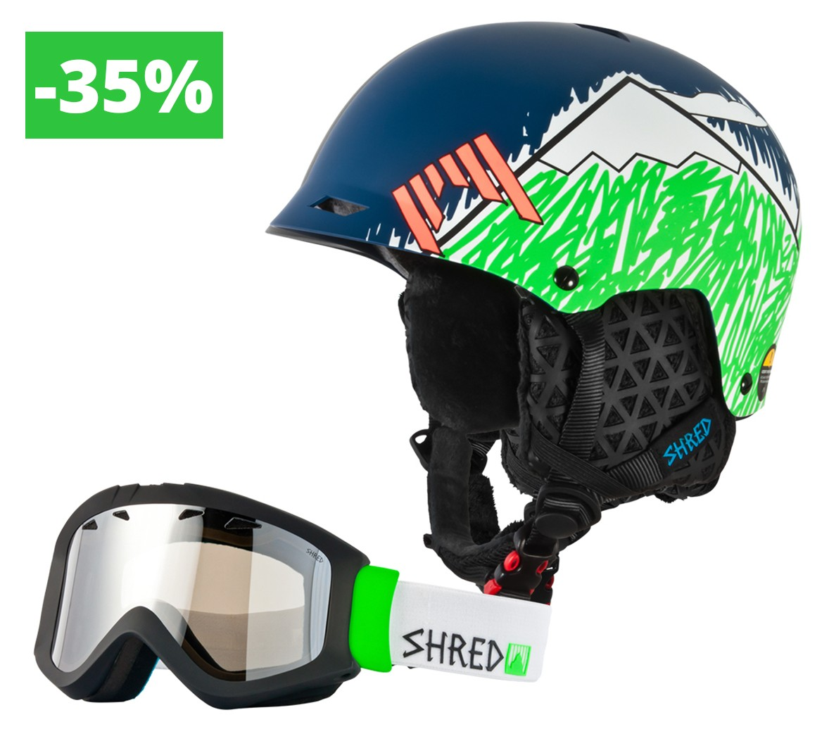 Shred komplet Half Brain D-Lux NeedMoreSnow + Tastic BRO