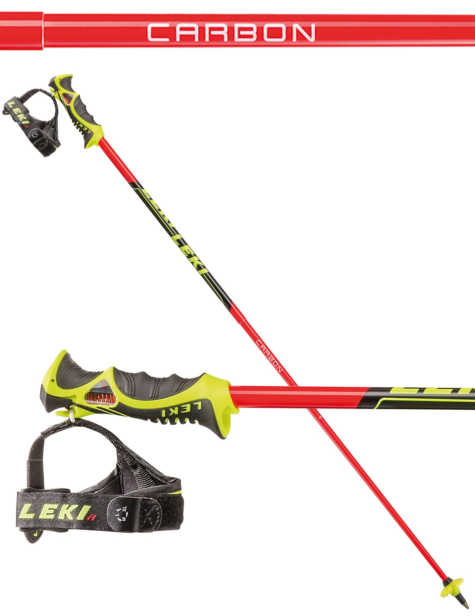 Leki Venom SL TR-S karbonske palice za slalom, 2018