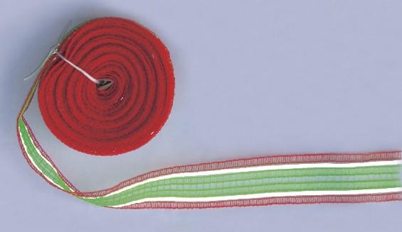 Liski označevalni trak 8 cm, zeleni/rdeči