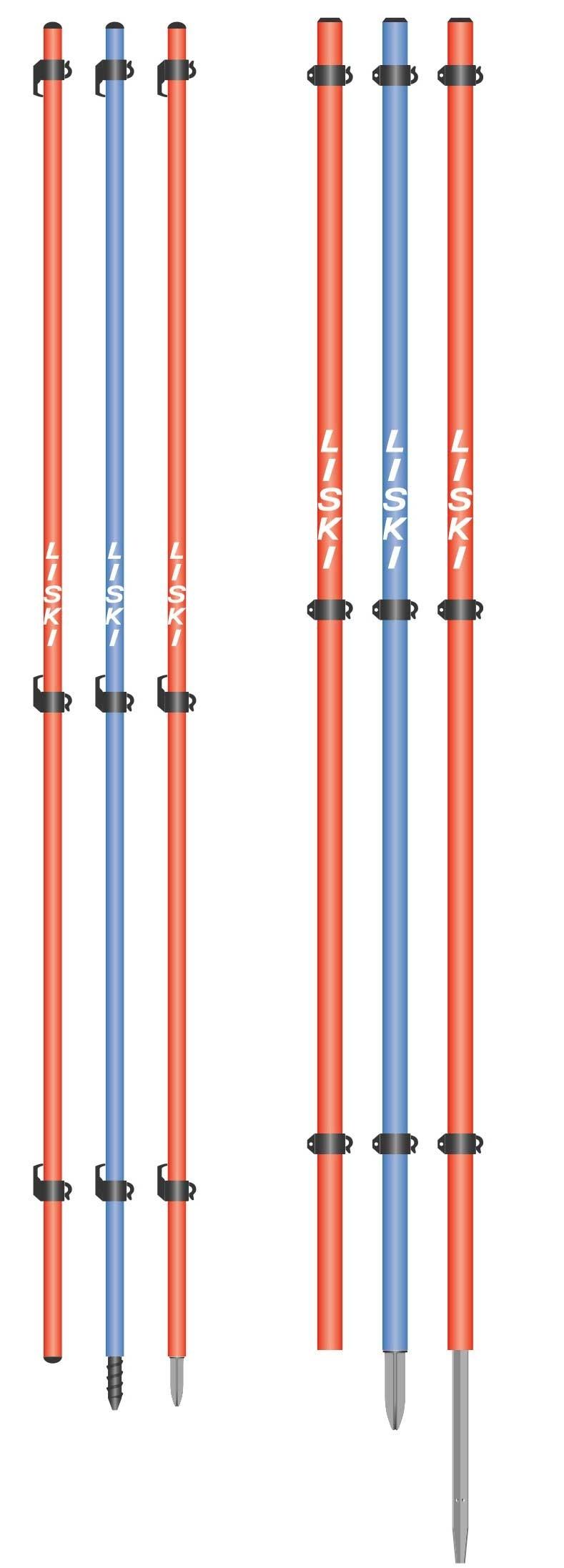 Liski različni koli za ograjevalne mreže, 250cm
