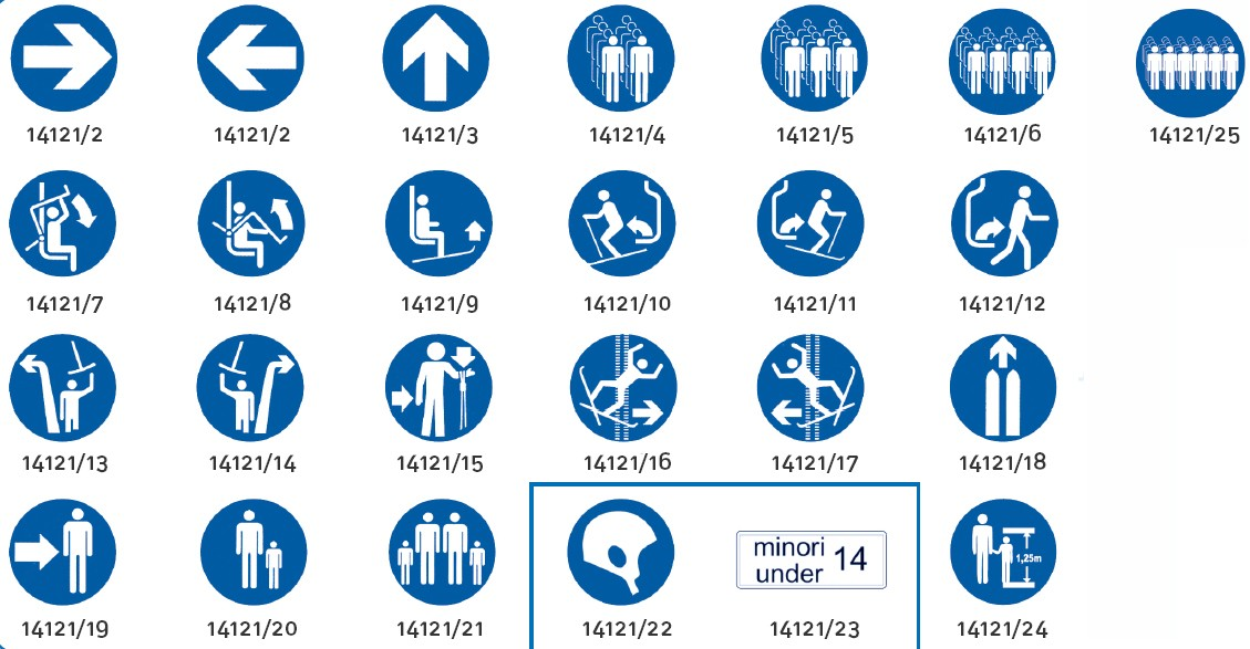 Liski znaki za smučišča za obveznosti