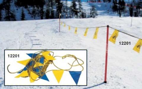 Zaščitna vrvica z zastavicami, 30m