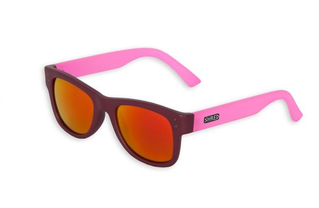 shred belushki bergundy pink