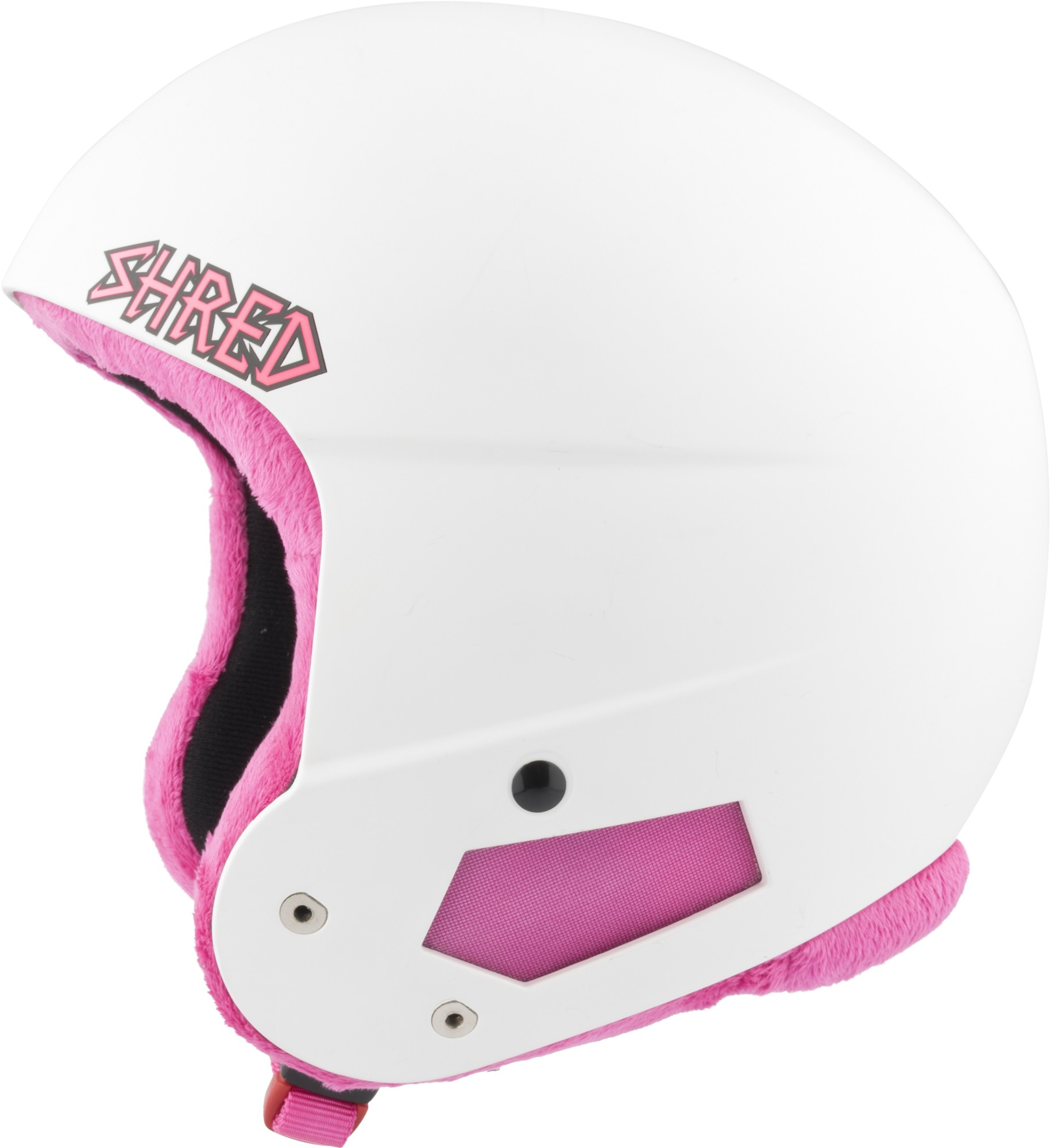 Smučarska čelada Shred BRAIN BUCKET MINI WHITE PINK