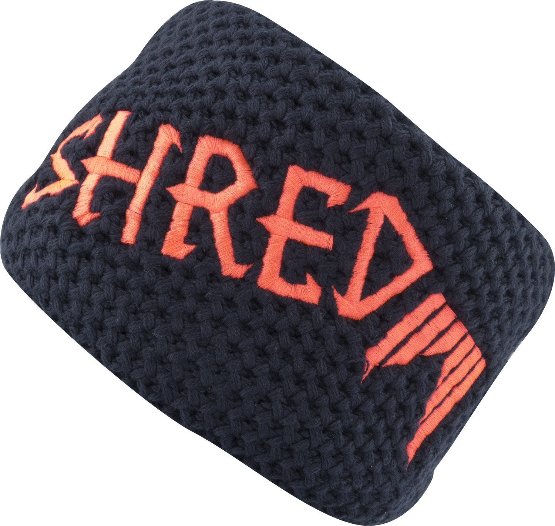 shred heavy knitted headband navy blue