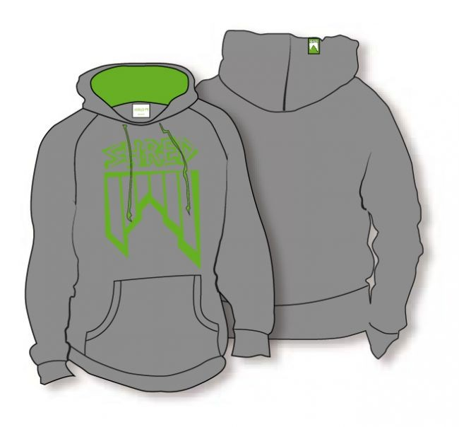 shred_hoodie_crooked logo grey green