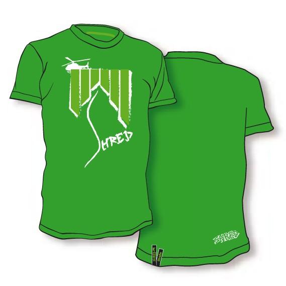 Shred majica t-shirt heli ash zelena
