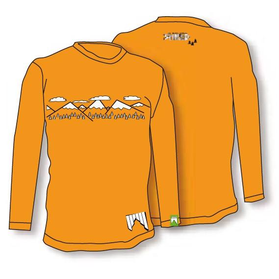 Shred majica t shirt need more snow oranžna