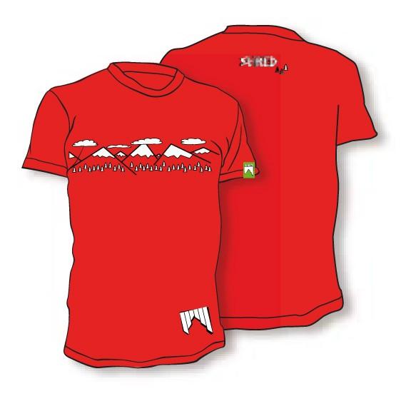 Shred majica t shirt need more snow rdeča