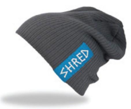 Smučarska kapa Shred PARK beanie - siva