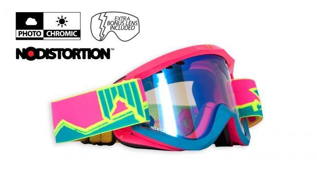 fotokromatska smučarska očala shred soaza the ivan pink blue