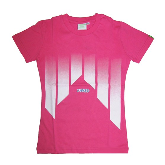 Shred t shirt mountain pink white