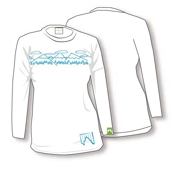 Shred majica z dolgimi rokavit needmoresnow bela