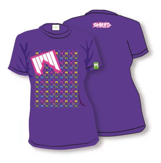 shred zenska majica t shirt liget purple