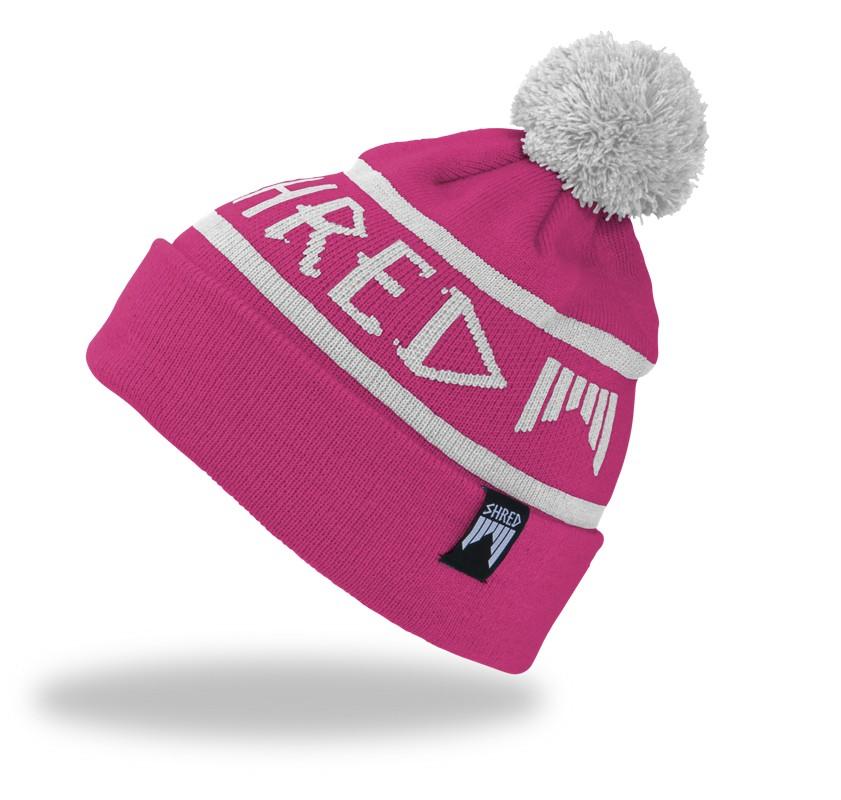 Smučarska kapa s cofom Shred WOODSIDE beanie - roza