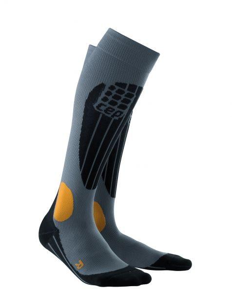 Kompresijske smučarske nogavice CEP - sive