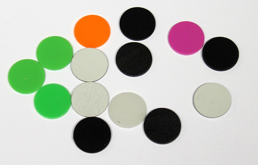 Snoli pisane ploščice za inserte (fi16mm), 100kos