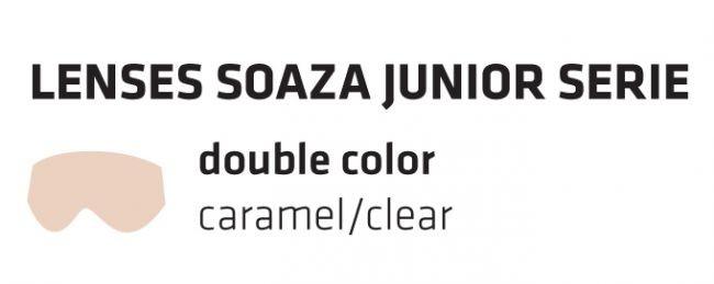 Dvojna rezervna stekla za SOAZA JUNIOR, karamelna