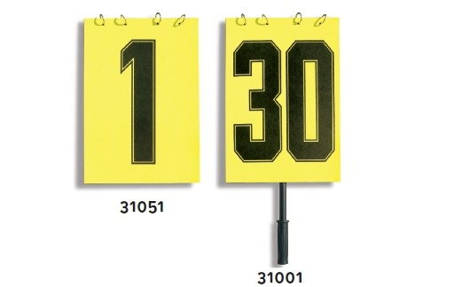 Liski plastificirane številke za menjavo igralca