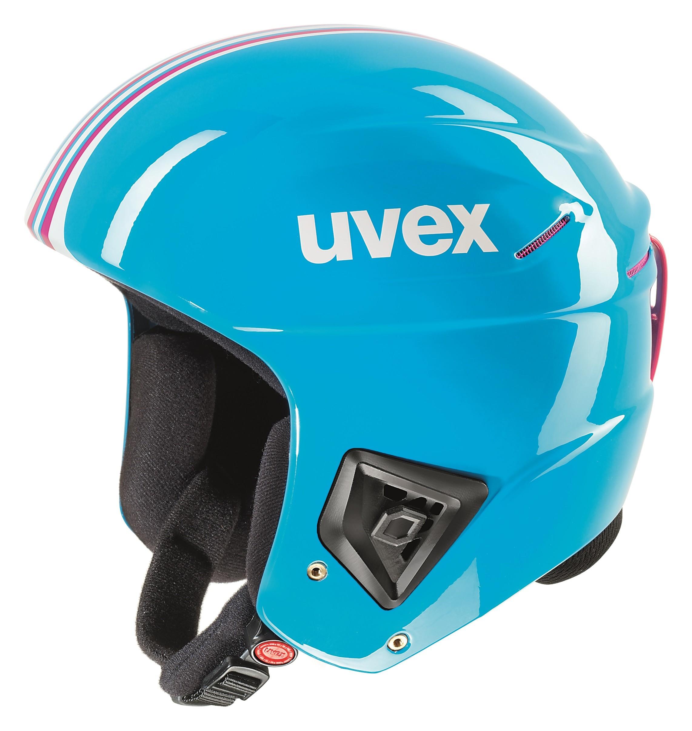 Smučarska čelada FIS Uvex race + modra, 2017