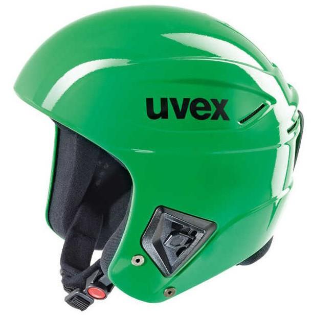Smučarska čelada FIS Uvex race + zelena, 2017