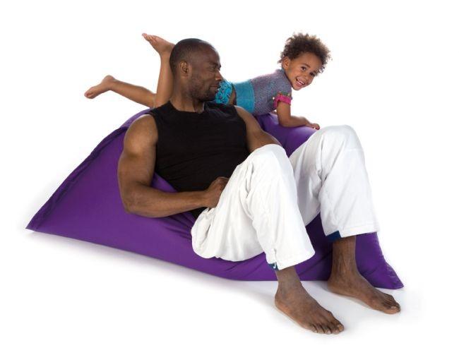 vreča za sedenje sit on it tryangle xl vijolična