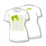 shred t-shirt kratka majica liget bela