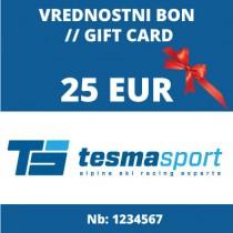 Vrednostni bon za 25 Eur
