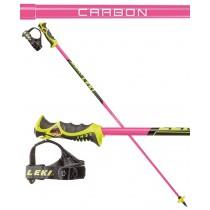 Leki Venom SL TR-S, karbonske palice za slalom - roza, 2018