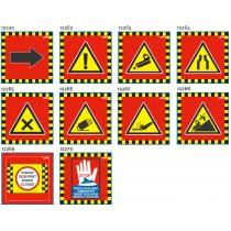 Liski različni mrežasti znaki za smučišča NEVARNOSTI, 75×75