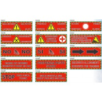 Različni mrežasti liski znaki za smučišča, 200×60cm