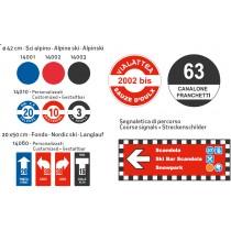 Liski znaki za težavnosti prog na smučiščih