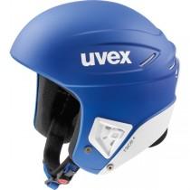 Smučarska čelada FIS Uvex race + modra/bela mat, 2018